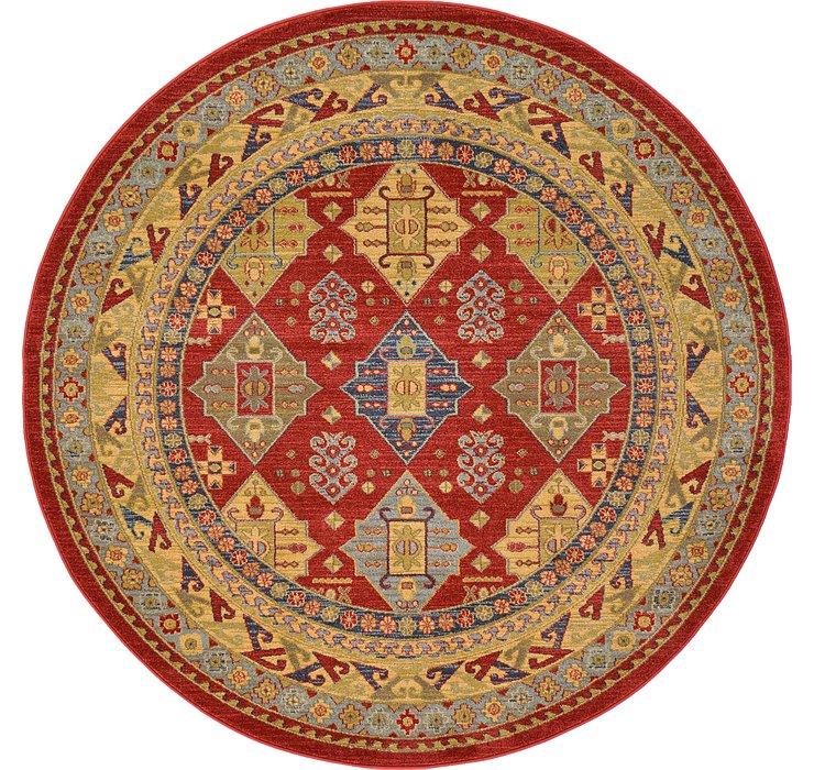 Red Sara Round Rug