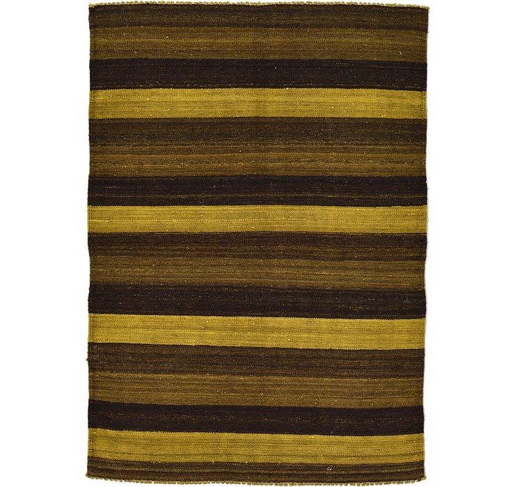 3' 4 x 4' 9 Kilim Afghan Rug