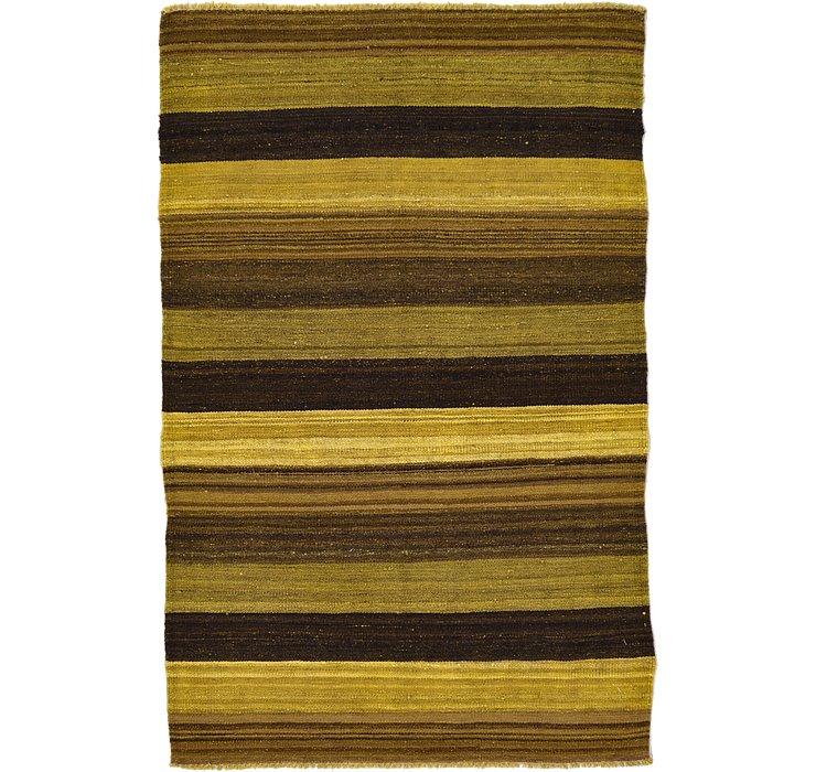 3' 1 x 4' 10 Kilim Afghan Rug