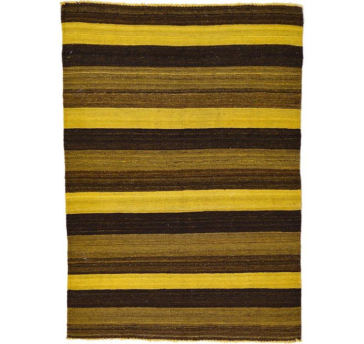 3' 4 x 4' 8 Kilim Afghan Rug