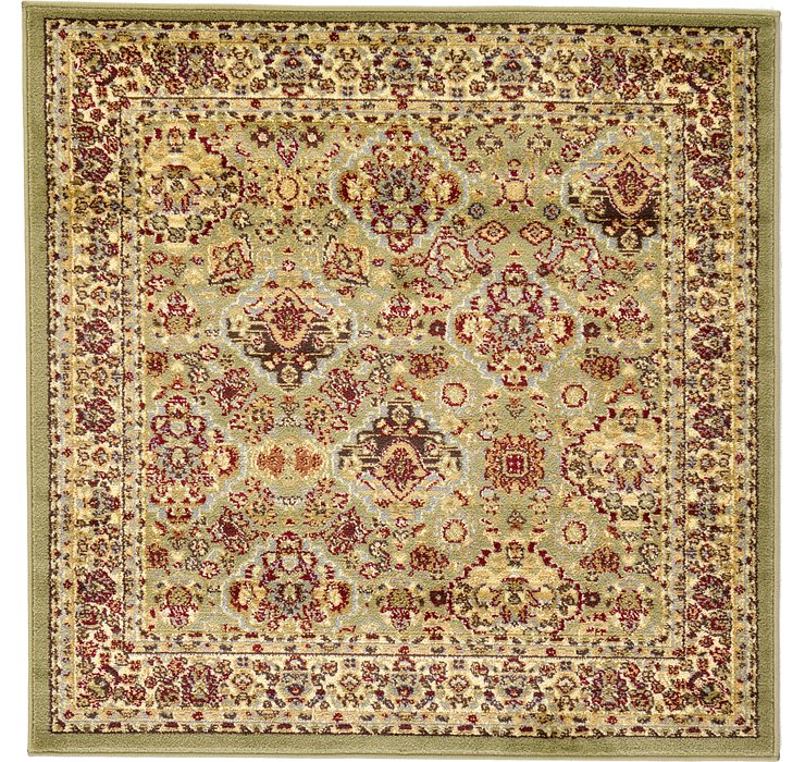 Light Green Aditi Square Rug