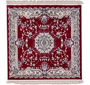 Link to 4' x 4' Tabriz Design Square Rug
