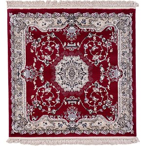 4' x 4' Tabriz Design Square Rug