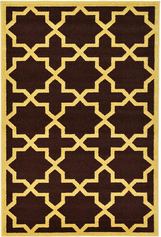brown 4 x 6 trellis rug area rugs esalerugs