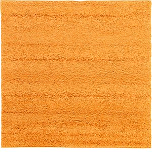 6' x 6' Solid Frieze Square Rug