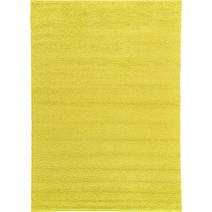7x10 Yellow Solid Frieze  Rugs