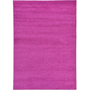 6x9 Red Solid Frieze  Rugs