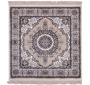 Link to 4' x 4' Mashad Design Square Rug