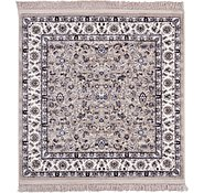 Link to 4' x 4' Kashan Design Square Rug