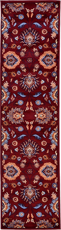 Red 2 7 X 10 Damask Runner Rug Area Rugs Esalerugs