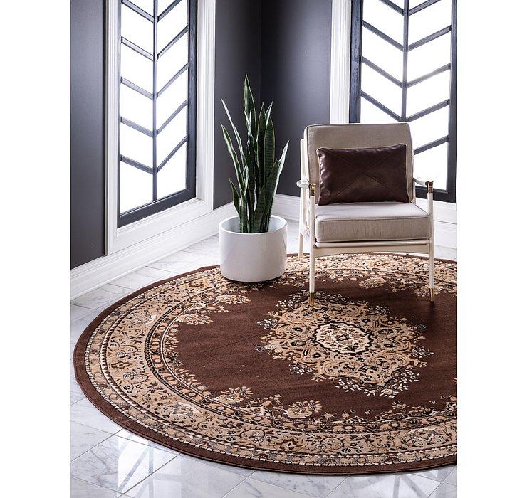 8' x 8' Mashad Design Round Rug