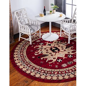 Unique Loom 8' x 8' Taftan Round Rug