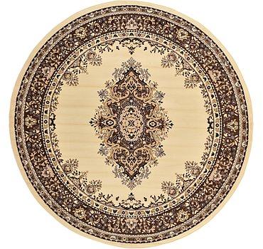 244x244 Mashad Design Rug
