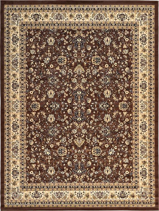 Brown 9u0026#39; 10 x 13u0026#39; Kashan Design Rug : Area Rugs : eSaleRugs