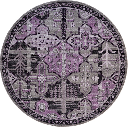 Purple 8' X 8' Vista Round Rug