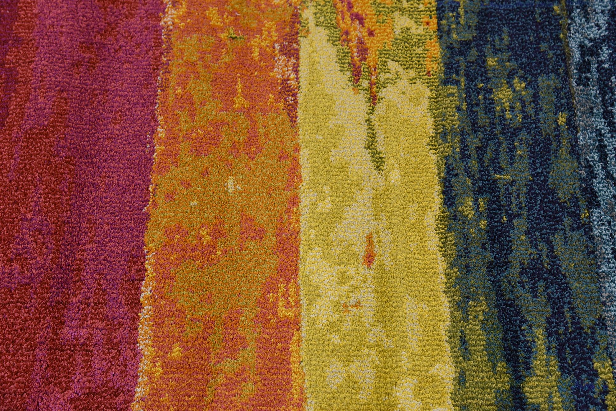 Multi Color Modern Design Area Rug Rainbow Colorful