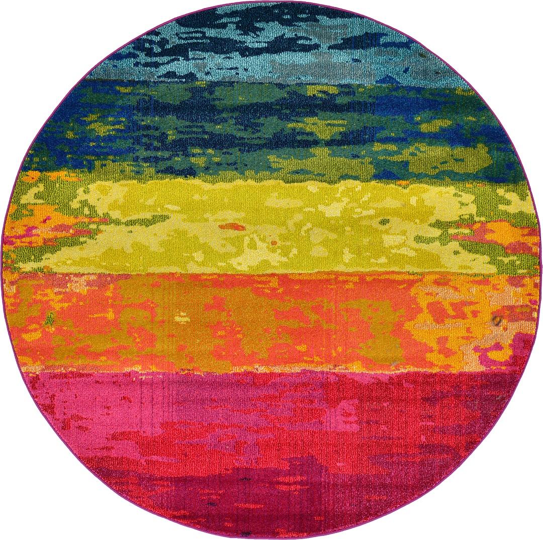 Colorful Rug Designs: Multi Color Modern Design Area Rug Rainbow Colorful