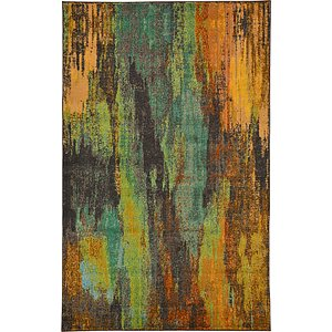 5×8 Green Casablanca  Rugs