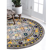 Link to Unique Loom 8' x 8' Medici Round Rug