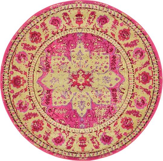 Pink 185cm X 185cm Palazzo Round Rug
