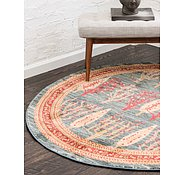 Link to Unique Loom 3' 3 x 3' 3 Fars Round Rug