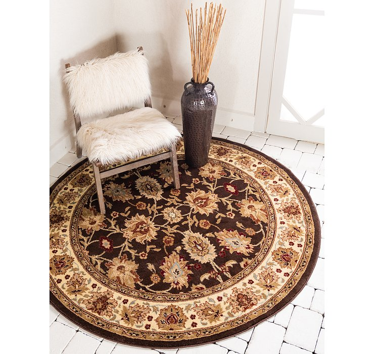 Brown Aditi Round Rug