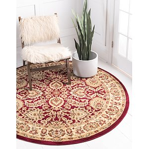 Link to 185cm x 185cm Classic Agra Round Rug page