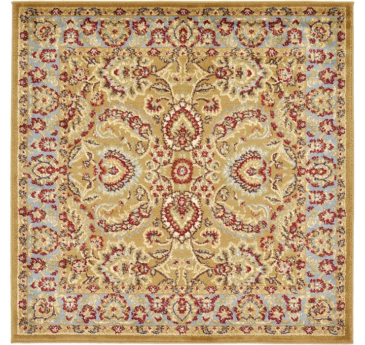 Dark Yellow Aditi Square Rug