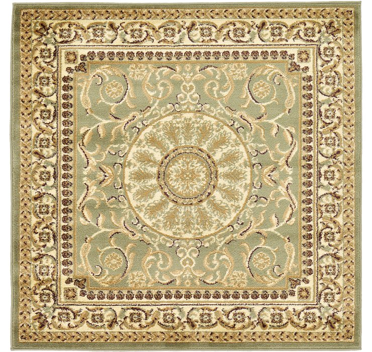 Light Green Chateau Square Rug