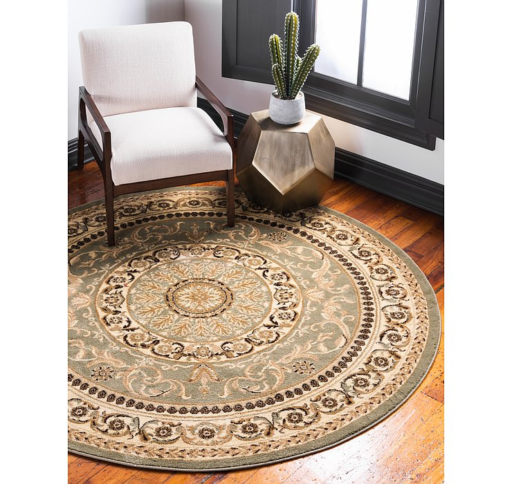 Light Green Chateau Round Rug