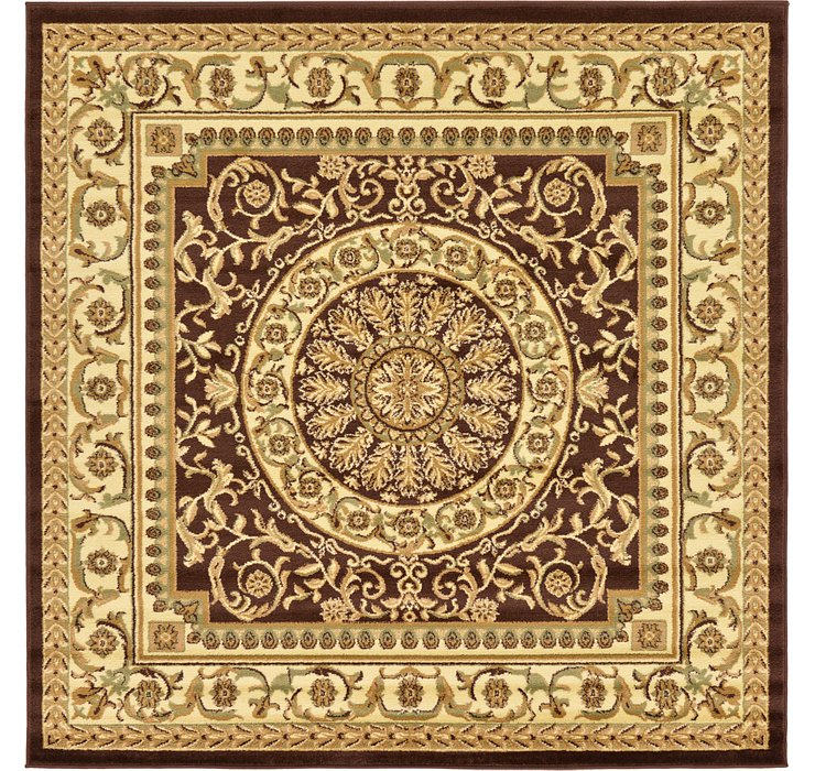 Brown Chateau Square Rug