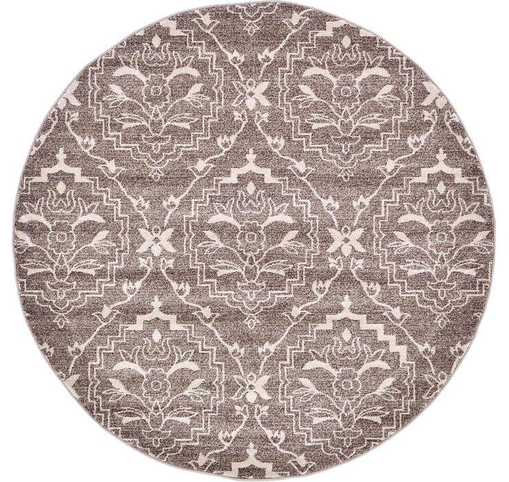 6' x 6' Damask Round Rug