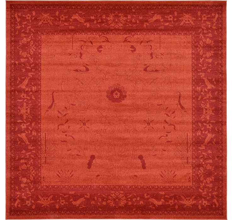 Rust Red Miranda Square Rug