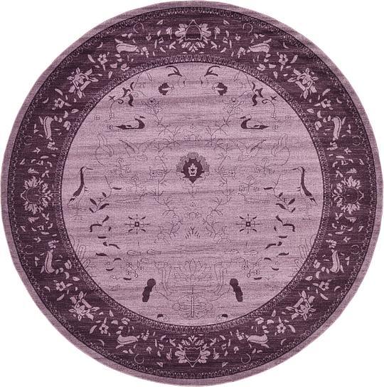 Purple 12' 2 X 12' 2 Vista Round Rug