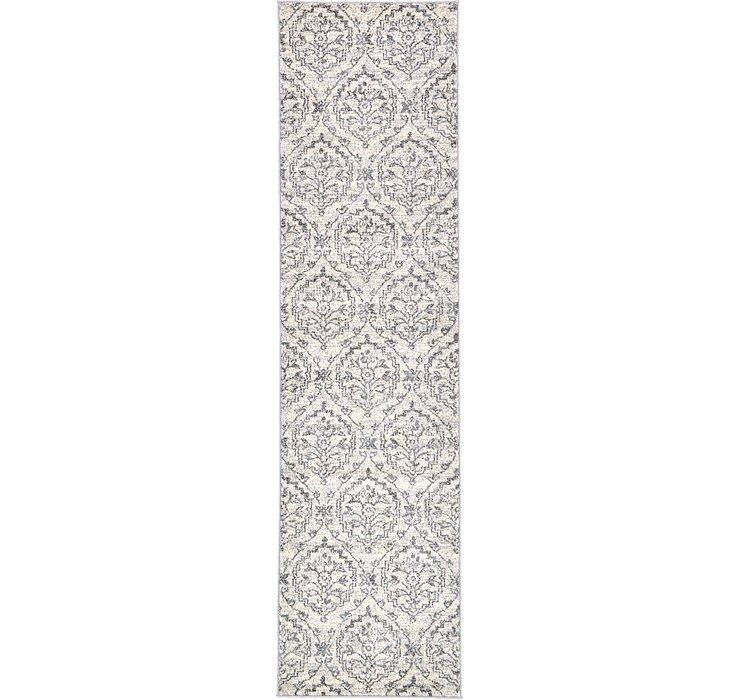 2' 7 x 10' Damask Runner Rug