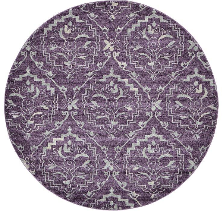 Purple Diana Round Rug