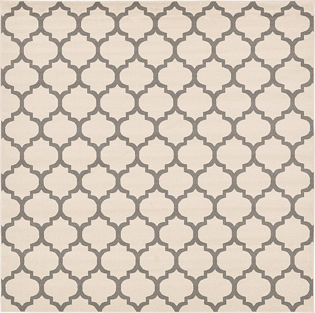 Beige 10 X 10 Trellis Square Rug Area Rugs Irugs Uk