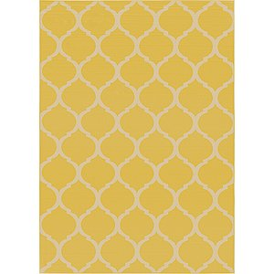 6x9 Yellow Trellis  Rugs