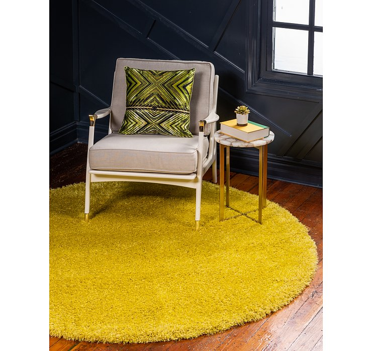 185cm x 185cm Luxe Solid Shag Round Rug