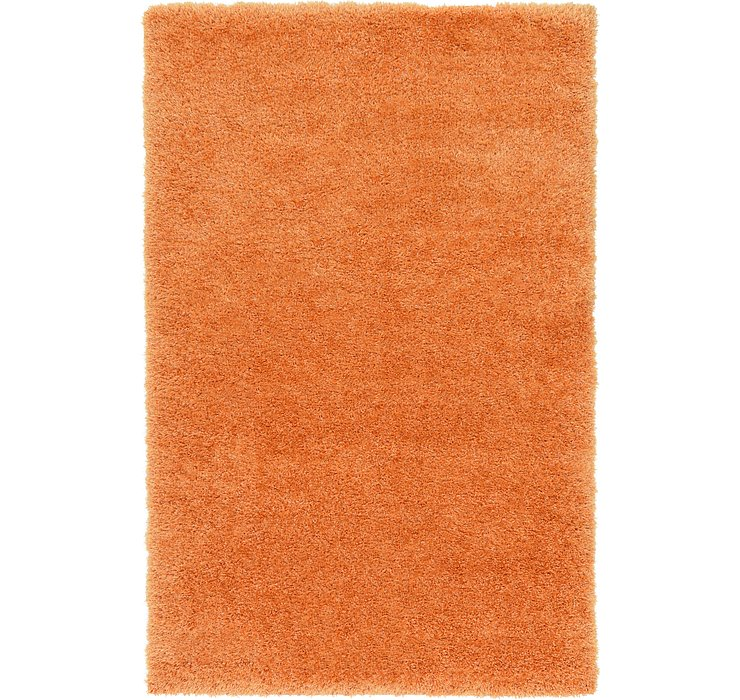 Orange Luxury Solid Shag Rug