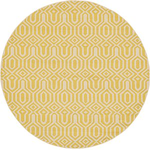 All Rounds Yellow Trellis  Rugs