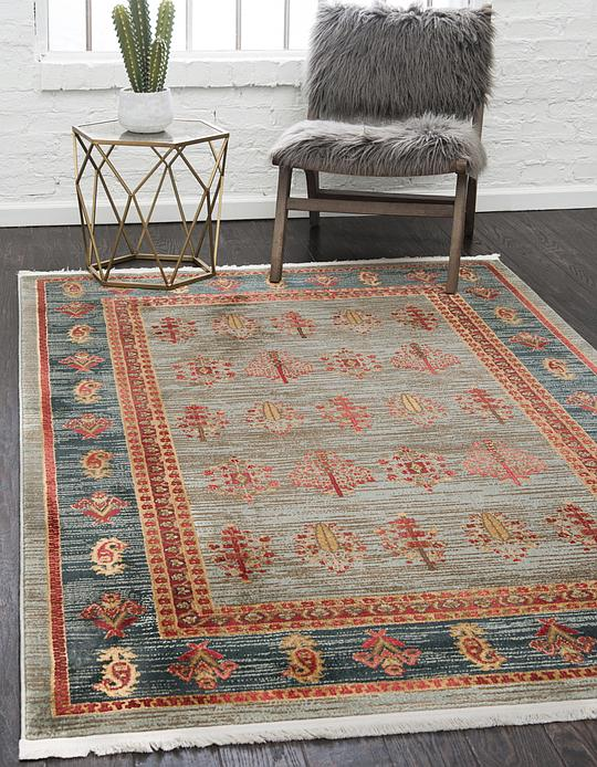 Light Blue 5 X 8 Kashkuli Gabbeh Rug Area Rugs Esalerugs