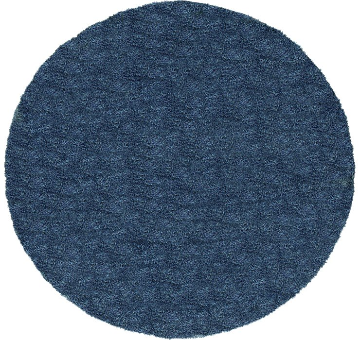 8' x 8' Luxury Solid Shag Round...