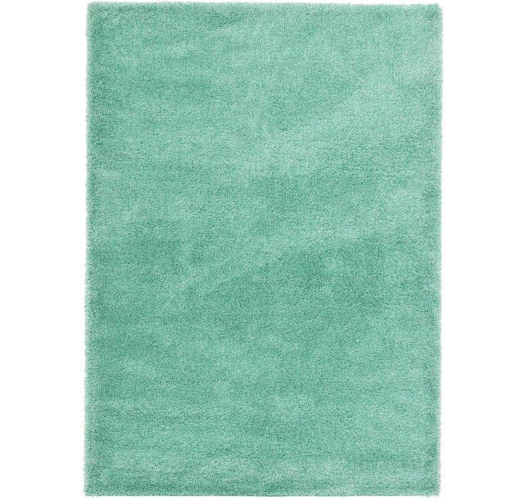 Feldspar Green Luxury Solid Shag Rug