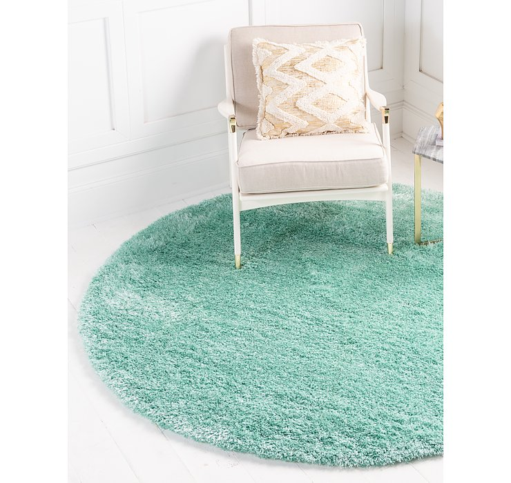 245cm x 245cm Luxe Solid Shag Round Rug