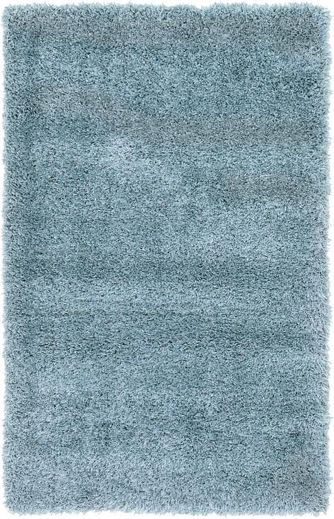 Light Blue 100cm X 160cm Luxe Solid Shag Rug Area Rugs
