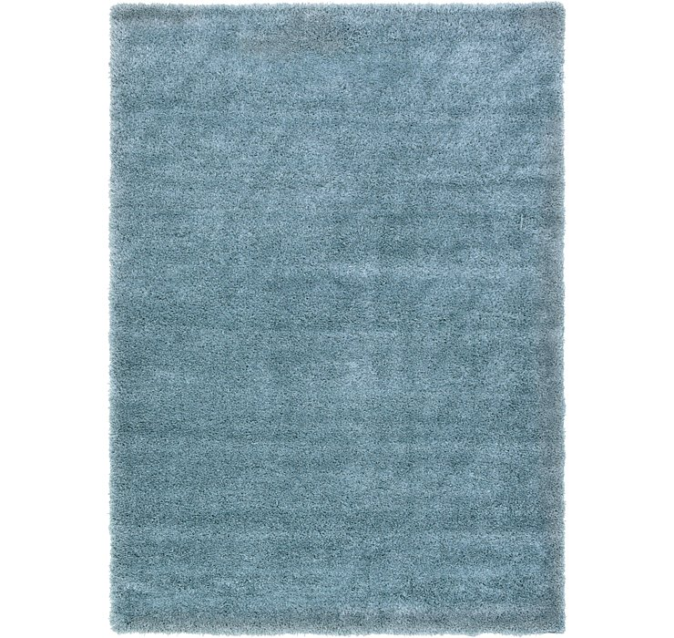 Light Blue Luxury Solid Shag Rug