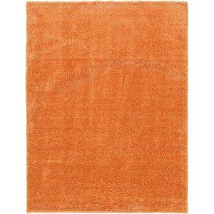 10x13 Orange Solid Frieze  Rugs