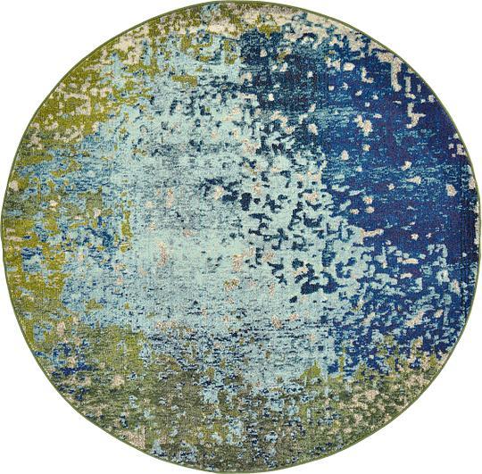 Blue 6 X 6 Casablanca Round Rug Area Rugs Irugs Uk