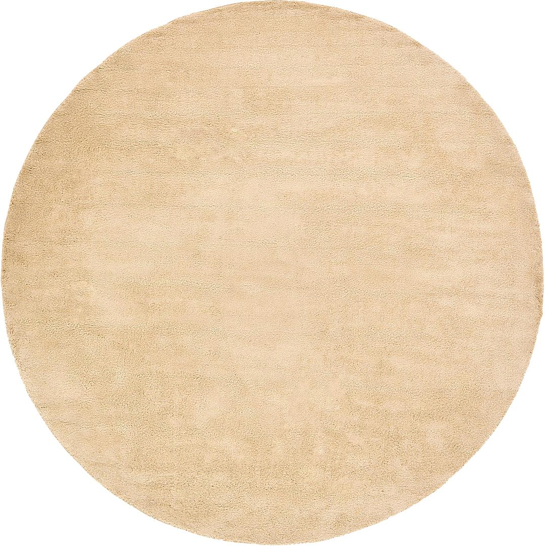 beige 400cm x 400cm solid frieze round rug | area rugs | au rugs
